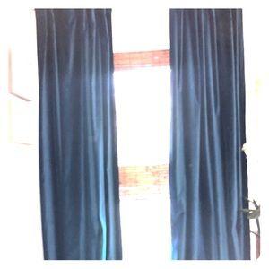 Velvet lined curtains